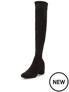 miss-selfridge-miss-selfridge-60039s-block-heel-over-knee-boot