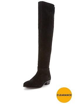 miss-selfridge-miss-selfridge-leather-panel-over-knee-boot