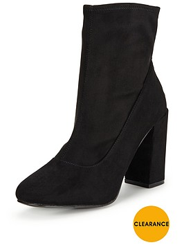 miss-selfridge-black-sock-ankle-boot