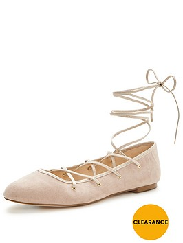 miss-selfridge-ballet-wrap-flatnbsp