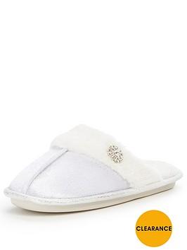 v-by-very-maggie-velvet-mule-faux-fur-sparkle-slipper-cream
