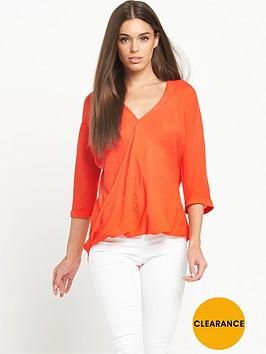 river-island-wrap-blouse-orange