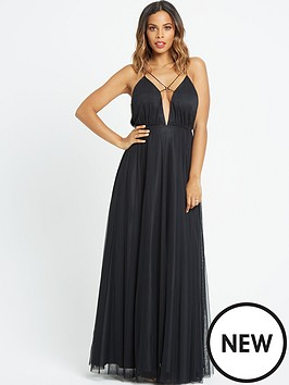 rochelle-humes-ribbon-tie-front-maxi