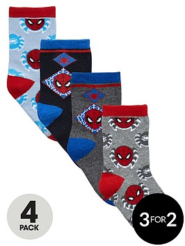 spiderman-boys-4-pack-of-socks