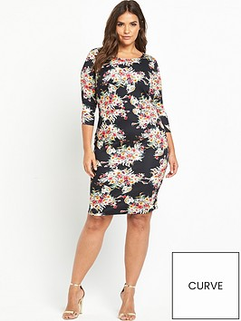v-by-very-curve-print-scuba-bodycon-dress