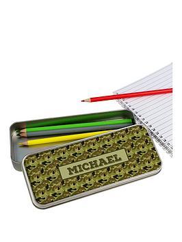 personalised-camo-pencil-tin