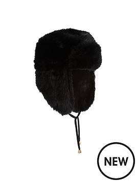 miss-selfridge-faux-fur-trapper-hat