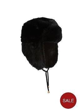 miss-selfridge-faux-fur-trapper-hat