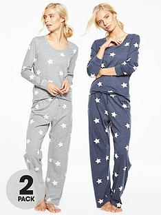 v-by-very-2-pack-long-sleeve-star-pj