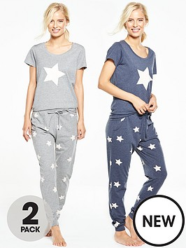 v-by-very-2-pack-short-sleeve-star-cuffed-pjsnbsp