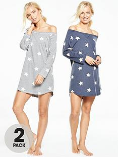 v-by-very-2-pack-star-nightdress
