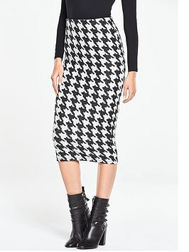 v-by-very-dogtoothnbspjersey-midi-pencil-skirt