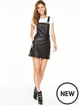 v-by-very-leather-look-pinafore-dress