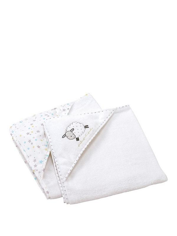 CUTE RABBITS on Grey Cotton fabric COUNTING SHEEP 55 cm x 50 cm larger available