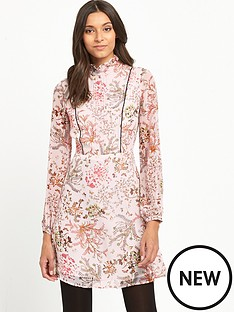 miss-selfridge-floral-long-sleeve-mini-dress-pink