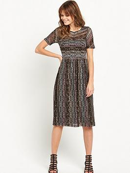 miss-selfridge-short-sleeved-lace-midi-dress