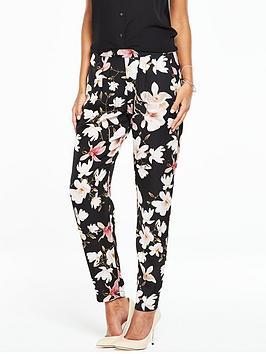 wallis-black-floral-trouser