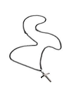 police-two-tone-cross-pendant