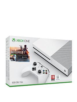 xbox-one-s-500gb-console-with-battlefield-1-and-optional-extra-controller-andor-12-months-xbox-live