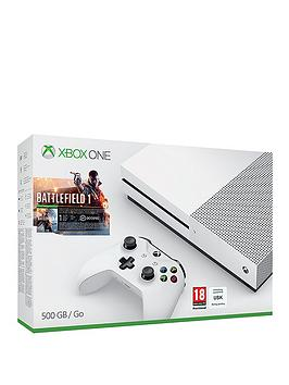 xbox-one-s-500gb-console-with-battlefield-1-plus-optional-12-months-live-gold-andor-extra-wireless-controller