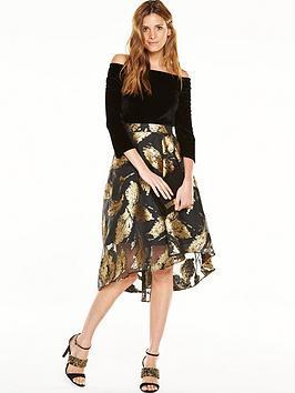 coast-maneela-jacquard-dress-black