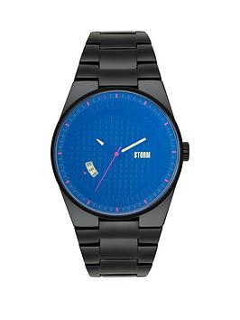 storm-darko-lazer-blue-dial-black-bracelet-mens-watch