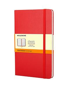 moleskine-moleskine-classic-a5-hard-cover-ruled-notebook-red