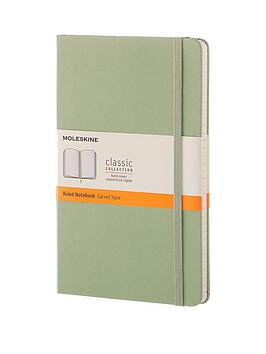 moleskine-moleskine-classic-a5-hard-cover-ruled-notebook--willow-green