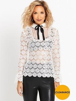 myleene-klass-guipure-ribbon-tie-blouse-ivory