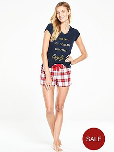 v-by-very-snow-days-flannel-short-set