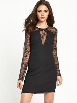 vila-lace-sleeve-dress