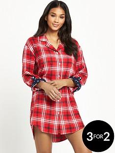 v-by-very-winter-check-nightshirt-red