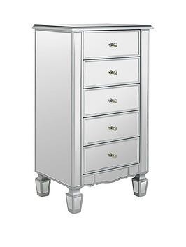 ideal-home-mirage-mirrored-5-drawer-chest