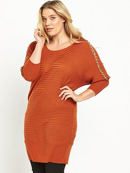 so-fabulous-chain-detail-jumper-burnt-orange