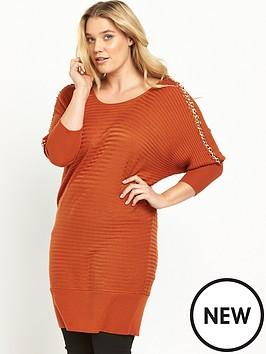 so-fabulous-chain-detail-jumper-burnt-orange