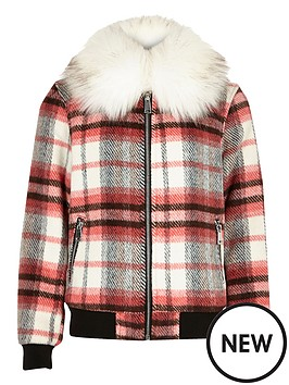 river-island-girls-red-check-collar-bomber-jacket