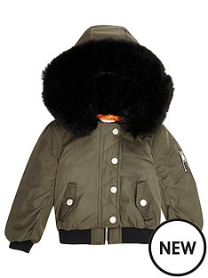 river-island-mini-mini-girls-khaki-hooded-bomber-jacket