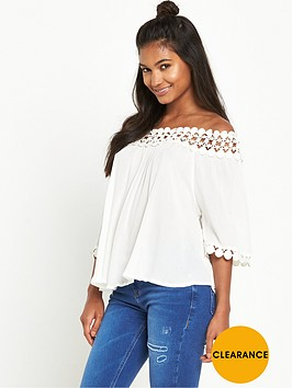 river-island-lace-bardot-cold-shoulder-top