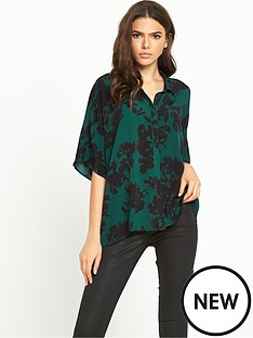 vila-abstract-floral-blouse