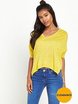 river-island-short-sleeve-v-neck-knitted-top