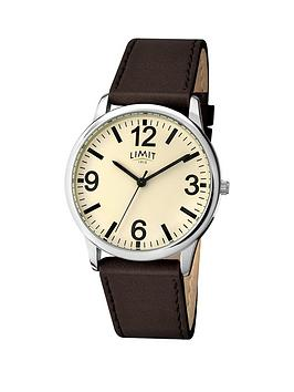 limit-white-dial-leather-strap-ladies-watch