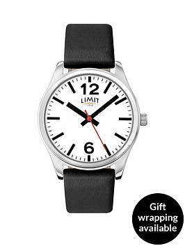 limit-white-dial-black-leather-strap-mens-watch
