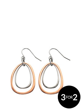fiorelli-rose-and-silver-tone-oval-cut-out-earrings