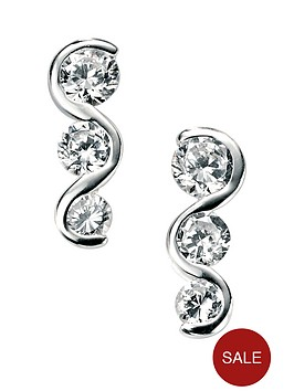 elements-sterling-silver-cubic-zirconianbspgraduated-earrings