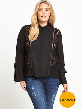 lost-ink-curve-blouse-with-lace-panel