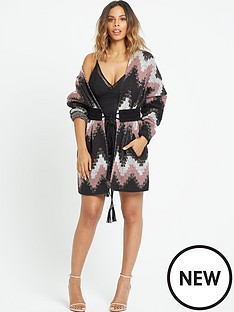 rochelle-humes-lurex-detail-belted-knit