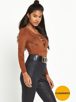 river-island-lace-up-suedette-bodysuit