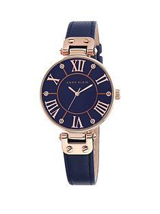 anne-klein-anne-klein-navy-dial-rose-tone-case-navy-leather-strap-watch