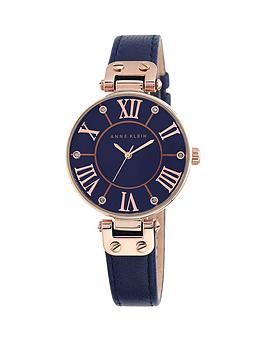 anne-klein-anne-klein-navy-dial-rose-tone-case-navy-leather-strap-watch