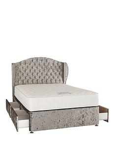 luxe-collection-from-airsprung-marilyn-1000-pocket-spring-memory-fabric-divan-bed-with-headboard-and-optional-storage